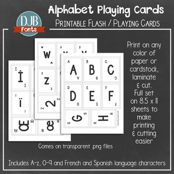 photo regarding Printable Playing Card Stock identified as Alphabet Enjoying Card / Flash Card Printables