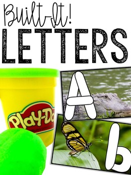 Alphabet Play-Doh Cards: Building Letters