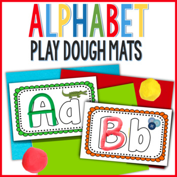 multi-sensory hands on alphabet play doh mats