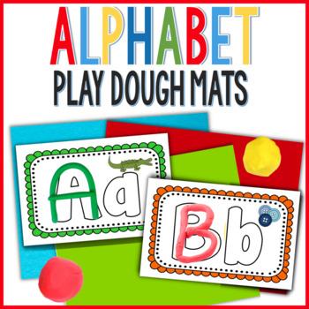 multi-sensory hands on alphabet play doh mats