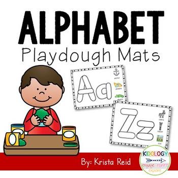 Alphabet Play Doh Mats
