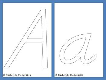 Alphabet Play Doh Mats D'Nealian