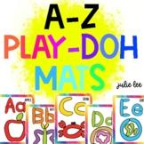 Alphabet Play Doh Mats Fine Motor Activities play dough mat