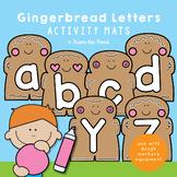 Alphabet Play Doh Mats - Gingerbread Men