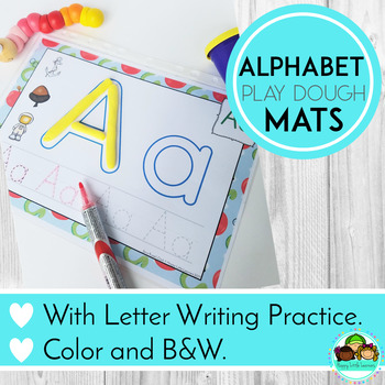 Alphabet Playdough Mats with Writing Practice