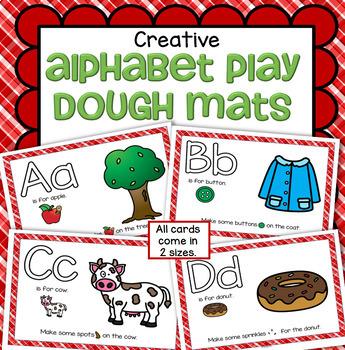 Alphabet Play Dough Creative Mats - Letter Recognition, Sounds & Creativity