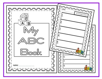 Alphabet Play Dough Mats-ENGLISH with Alphabet Writing Booklet-Primary/ESL