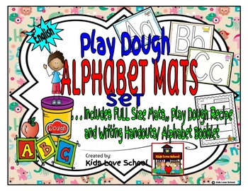 Alphabet Play Dough Mats-ENGLISH with Alphabet Writing Boo