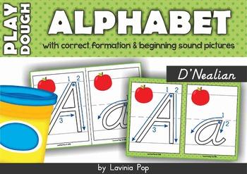 Alphabet Play Dough Mats D'Nealian
