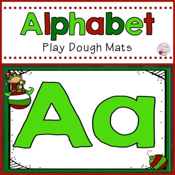 Alphabet Play Dough Mats Elf Themed