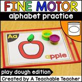 Fine Motor Activities: Alphabet Play Dough Mats and Letter Play Dough Mats