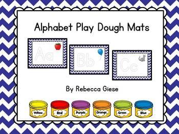 Play Dough Mats {Alphabet}