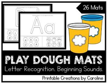 Alphabet Play Dough Mats. Letters A-Z. Centers Ideas. Printable.