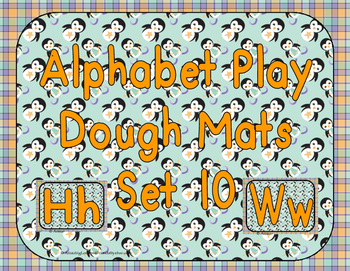Alphabet Play Dough Mats Set 10