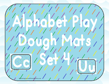 Alphabet Play Dough Mats Set 4