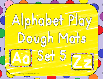 Alphabet Play Dough Mats Set 5