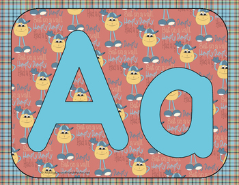 Alphabet Play Dough Mats Set 8