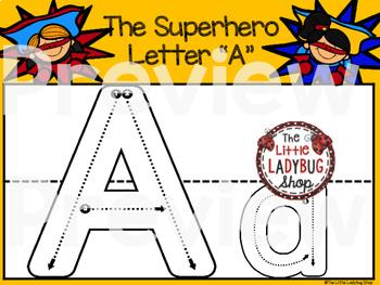 Alphabet Play Dough Mats [Superhero Theme Play Dough Mats]