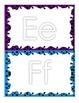 Alphabet Play Dough Mats - Swirly Frames