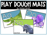 Alphabet Play Dough Mats With Watercolor Pictures