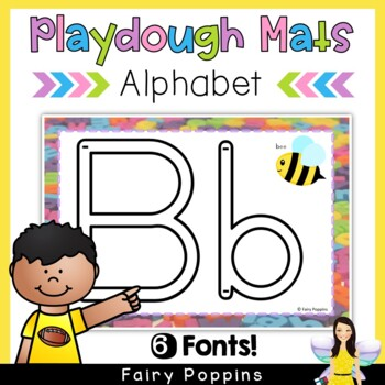 Alphabet Play Dough Mats (Write and Wipe) Zaner-Bloser and Australian Fonts
