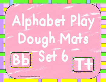 Alphabet Play Dough Mats set 6