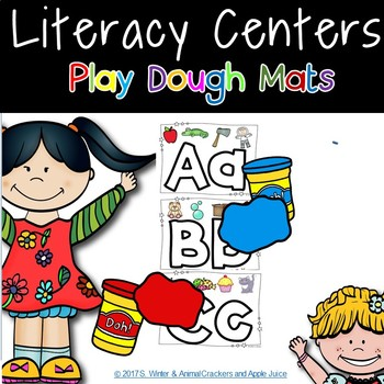 Alphabet Play Dough Mats with Color Pictures