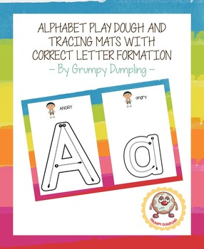 Alphabet Play Dough and Tracing Mats with Correct Letter Formation