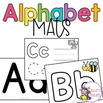 Alphabet 'Play and Write' Playdough Mats