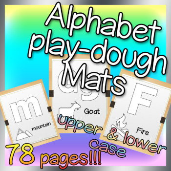 Kindergarten Alphabet Play dough Mats