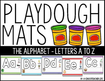 Alphabet Play dough Mats and Letter Identification Printables