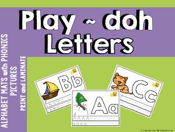 Alphabet  Play~doh Mats