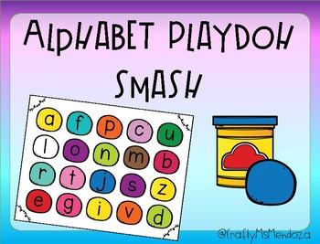 Alphabet Playdoh Smash