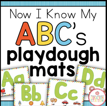 Alphabet Playdough Center {Now I Know My ABC's Series}