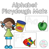 Alphabet Playdough Mats! Fine motor fun