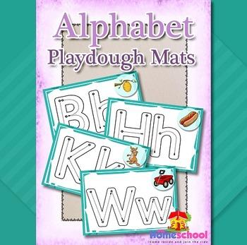 Playdough Mats - Alphabet