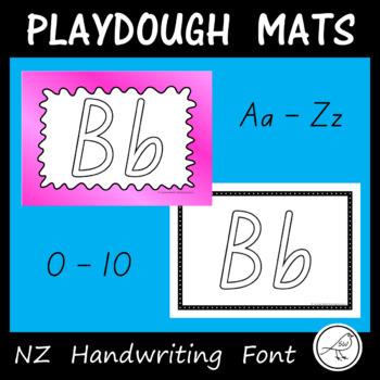 Alphabet and Number Playdough Mats - New Zealand Handwriting Font