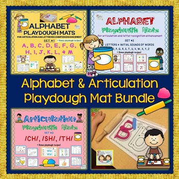 On Sale! Alphabet Playdough Mats: A-Z & /CH/, /SH/ & /TH/ sounds & words