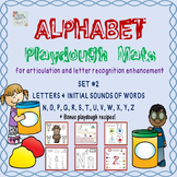 Alphabet Playdough Mats For Letter Recognition or Articulation: N to Z