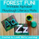 Alphabet Playdough Mats - Forest Fun!