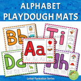 Alphabet Playdough Mats - Letter Formation