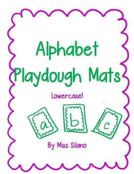 Alphabet Playdough Mats- Lowercase Letters