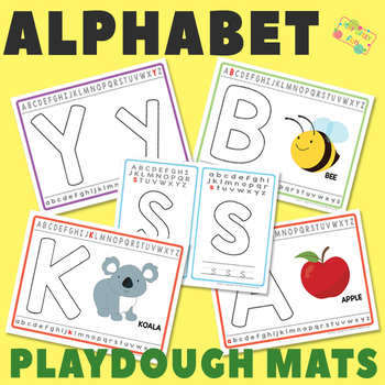 Alphabet Playdough Mats - Multiple Play Dough Mat Versions for Each Letter