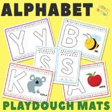 Alphabet Playdough Mats - Multiple Play Dough Mat Versions