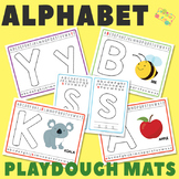 Alphabet Playdough Mats - Multiple Play Dough Mat Versions