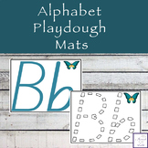 Alphabet Playdough Mats - NSW Font
