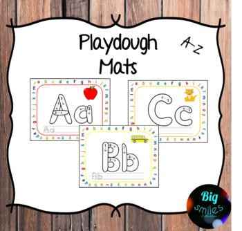 Alphabet Playdough Mats / Play Dough Mats/ Playdoh Mats