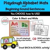 Alphabet Playdough Mats/ Playdough Mats/ Play Doh Mats/ Al