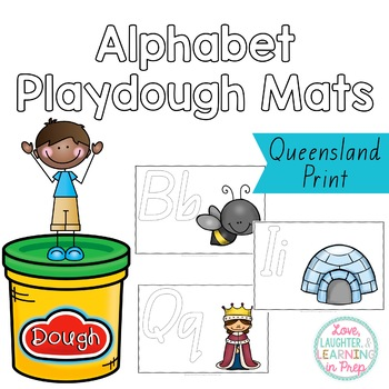 Queensland Print Alphabet Playdough Mats