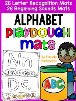 Alphabet Playdough Mats {Recognition & Beginning Sounds- 52 mats}